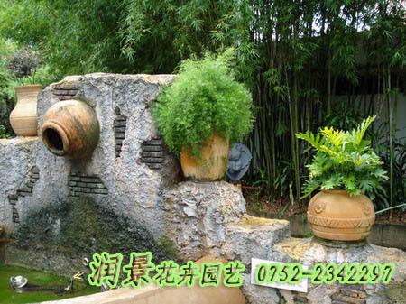 庭院,空中花园等景观设计,水景 别墅庭院水景效果图